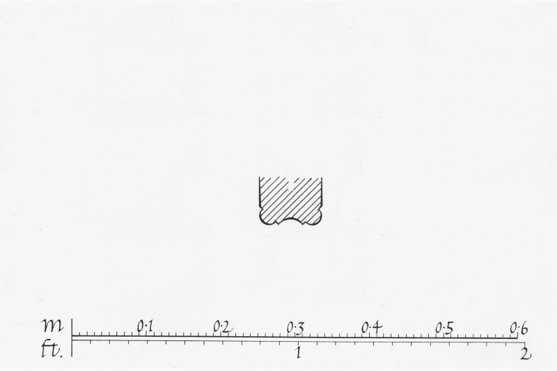 Iona, Iona Abbey. Plan showing profile mouldings of sedilia.