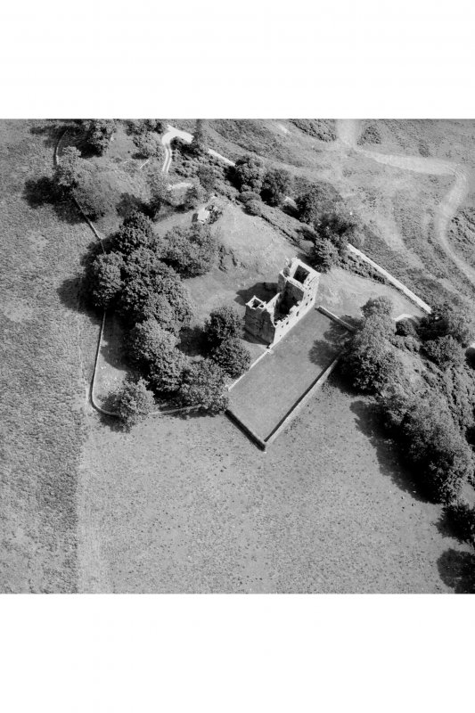 Carnasserie Castle. Aerial view from South-West.