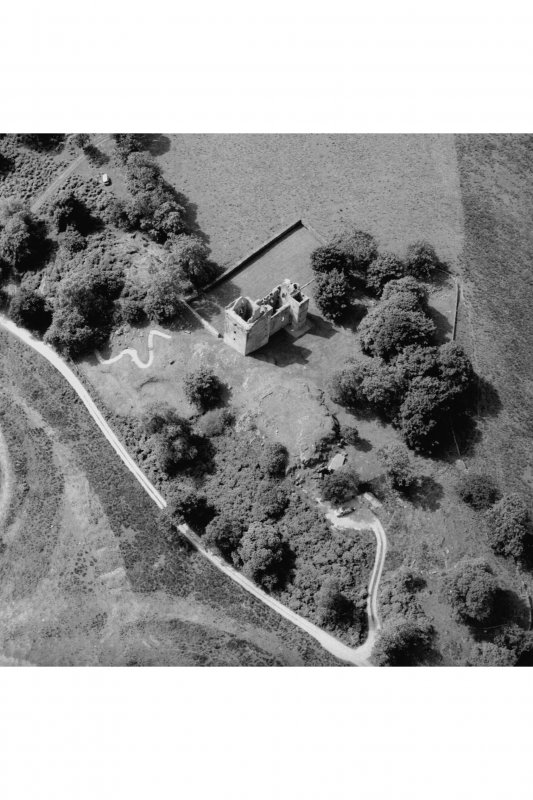 Carnasserie Castle. Aerial view from North-East.