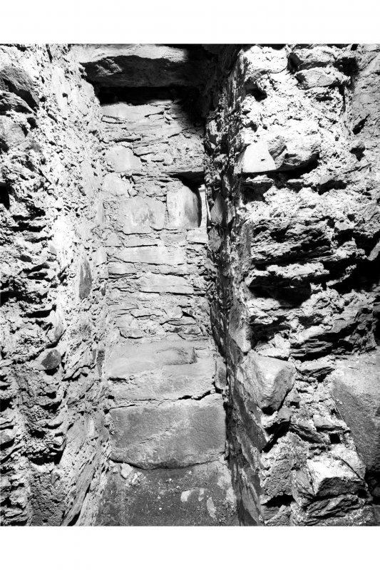 Detail of latrine in North East Tower, East Range.