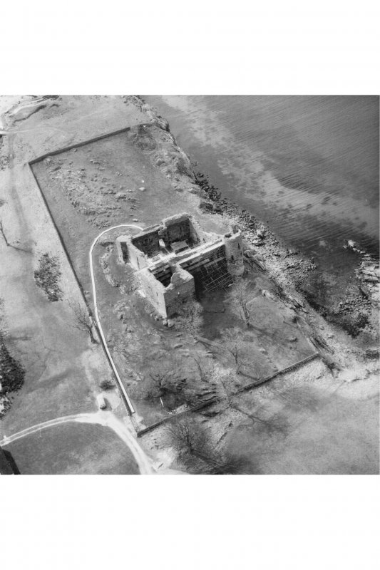 Castle Sween. Aerial view from the North-East..