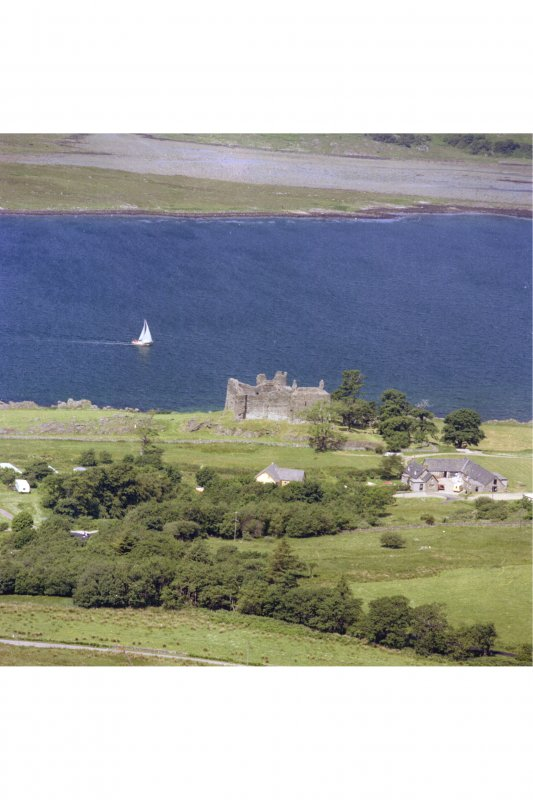 Castle Sween. General view of Castle Sween and the loch from the South-East.