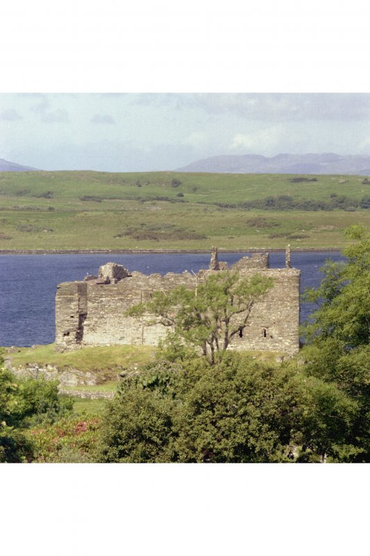 Castle Sween. General view from the South-East.