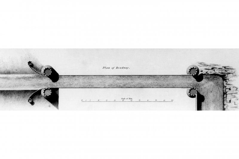 Photographic copy of drawing showing plan and elevation.