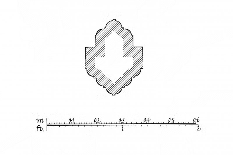 Iona, Iona Abbey. Drawing of profile mouldings.