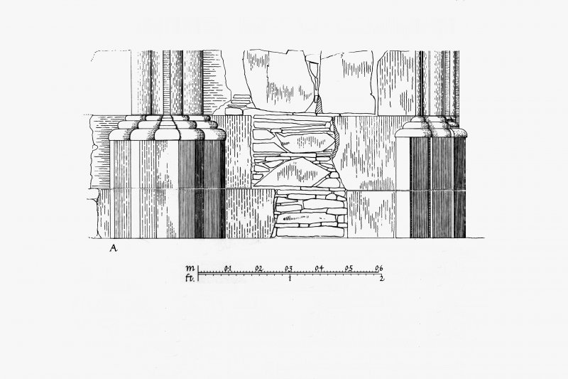 Iona, Iona Abbey. Plan showing South-East transept details.