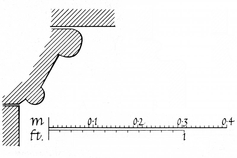 Iona, Iona Abbey. Plan of North transept showing profile mouldings.