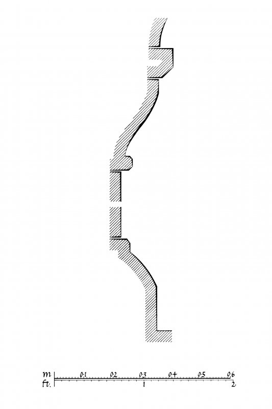 Iona, Iona Abbey. Plan showing profile mouldings of South choir-arcade.