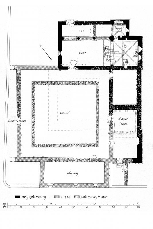 Iona, Iona Nunnery. Photographic copy of ground plan.