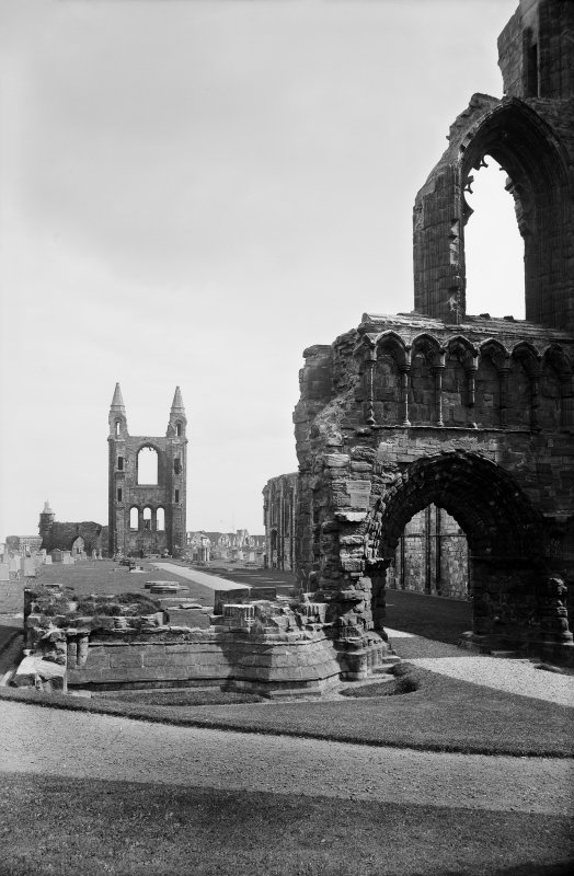 St Andrews Cathedral.  View from North West.