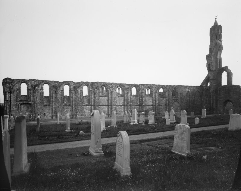 View of Cloisters from North East at St Andrews Cathedral.