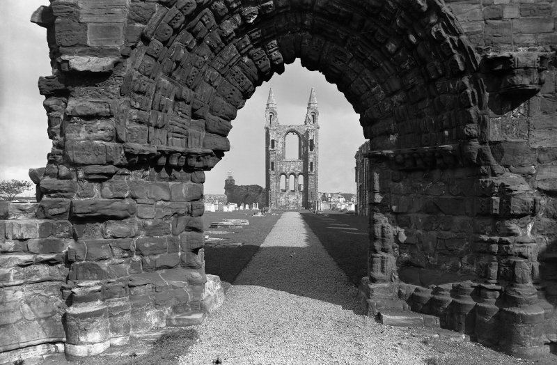 St Andrews Cathedral.  View through West Entrance, from West.