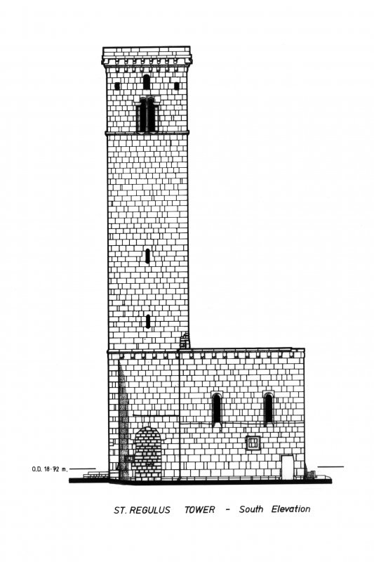 Photograph of drawing showing South Elevation.