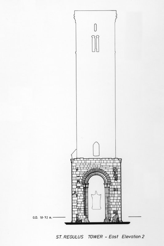 Photograph of drawing showing East Elevation.
