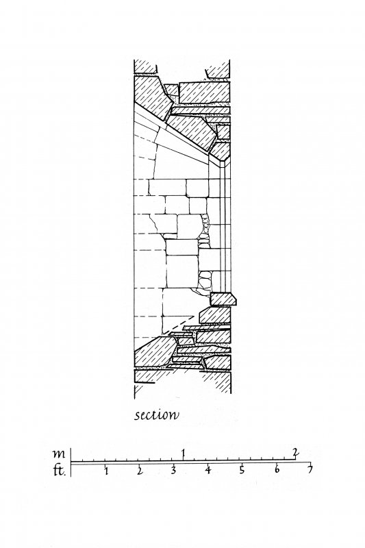 Iona, Iona Nunnery. Plan showing East window of North clearstorey of nave.
