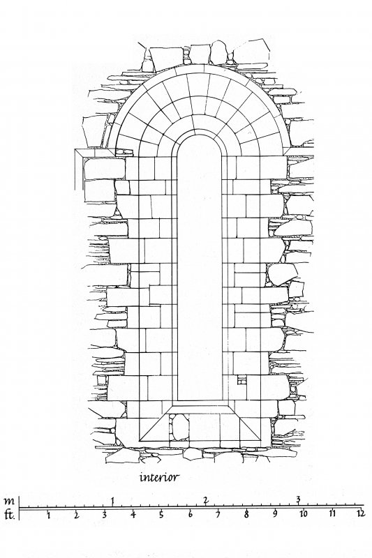 Iona, Iona Nunnery. Photographic copy of upper window in West wall of nave.