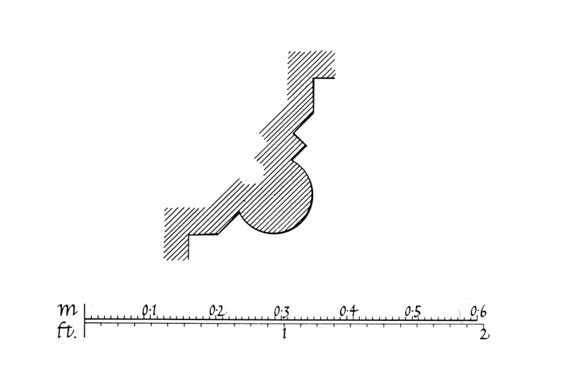 Iona, Iona Nunnery. Plan of profile mouldings.