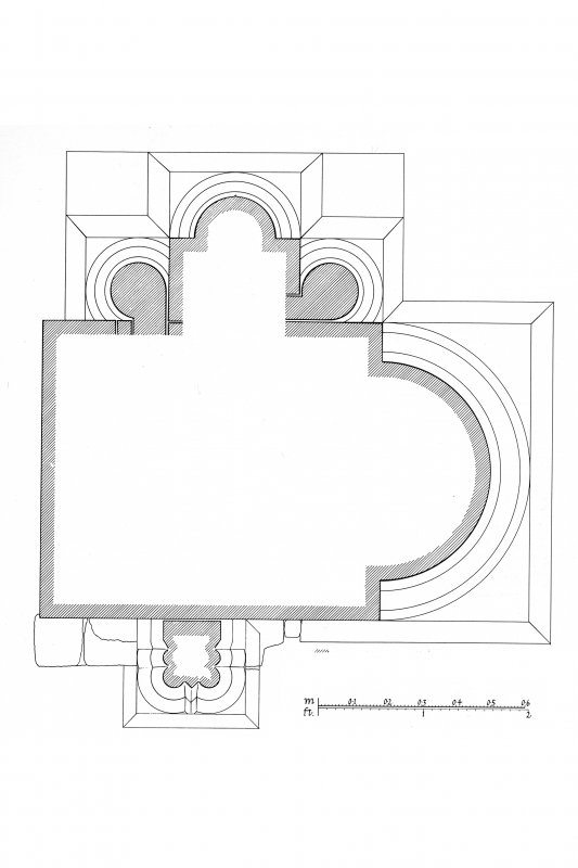 Iona, Iona Nunnery. Plan showing profile mouldings.