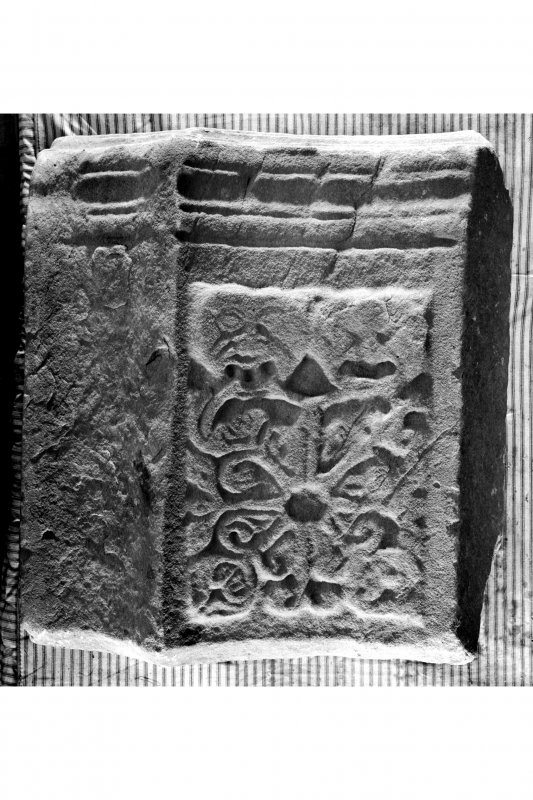 Iona, Iona Nunnery. Detail of cloister fragment.