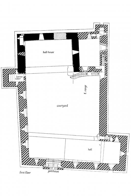 Digital image of drawing showing First Floor Plan.