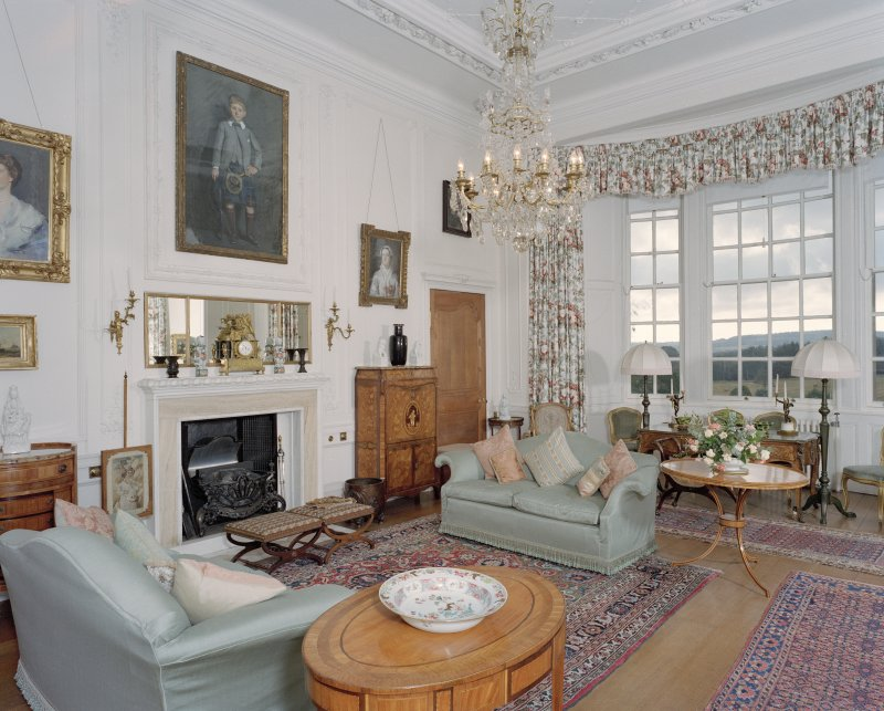 Hill of Tarvit, interior. View of drawing room from North West