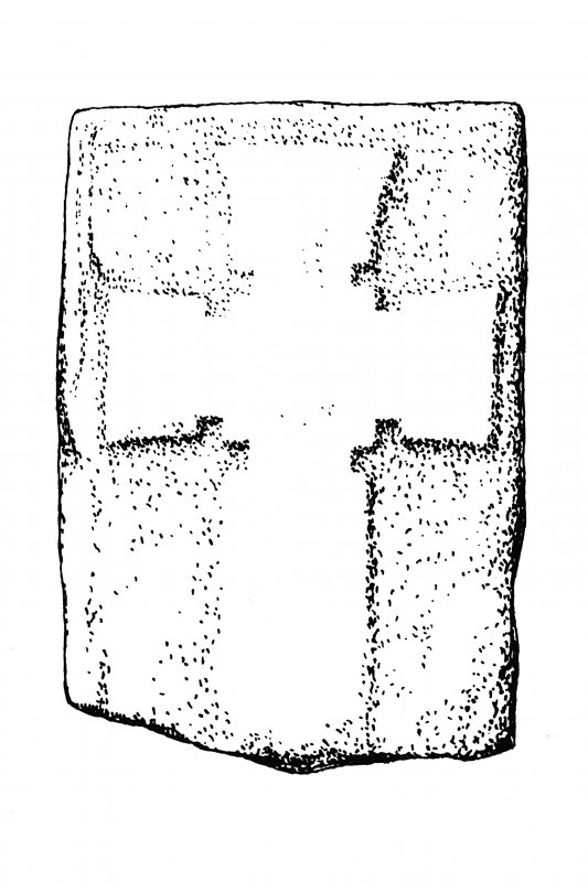 Iona, general. Plan showing Early Christian non-ringed relief crosses.
