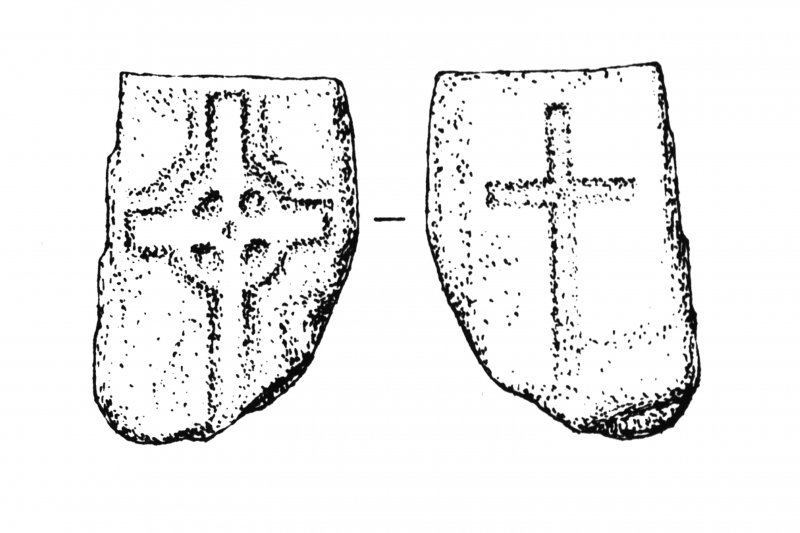 Iona, general. Plan showing outline incised, ringed crosses.