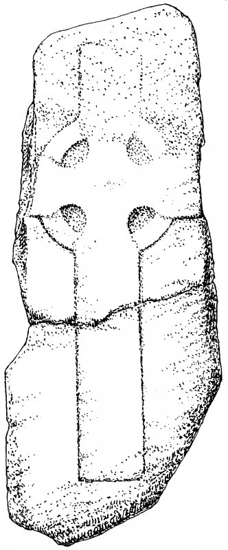 Iona, general. Plan showing outline, incised, ringed crosses.