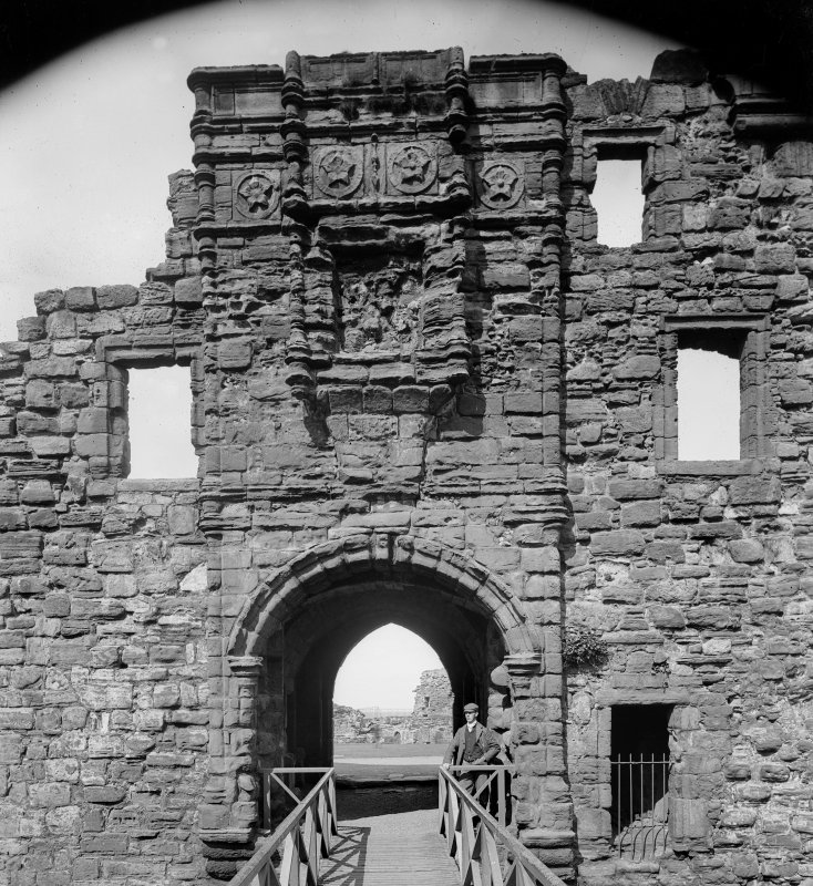 View of entrance to St Andrews Castle from South West.
