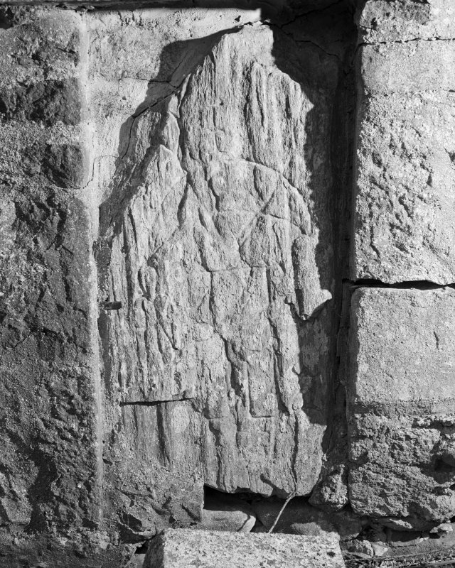 View of Inverallan Pictish symbol stone.