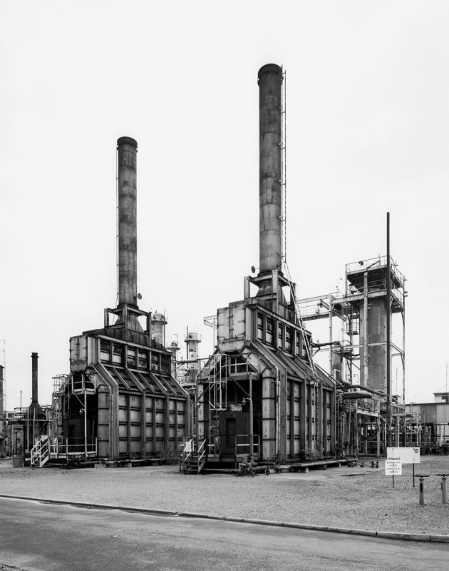 General view of the plant's two furnaces.