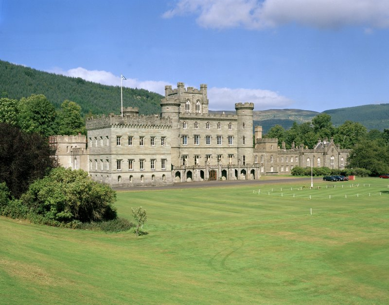 General view of Taymouth Castle, Perthshire, from South West.