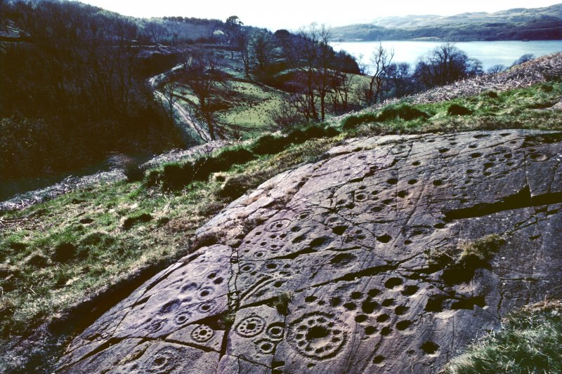 Cup and ring marks at Ormaig.