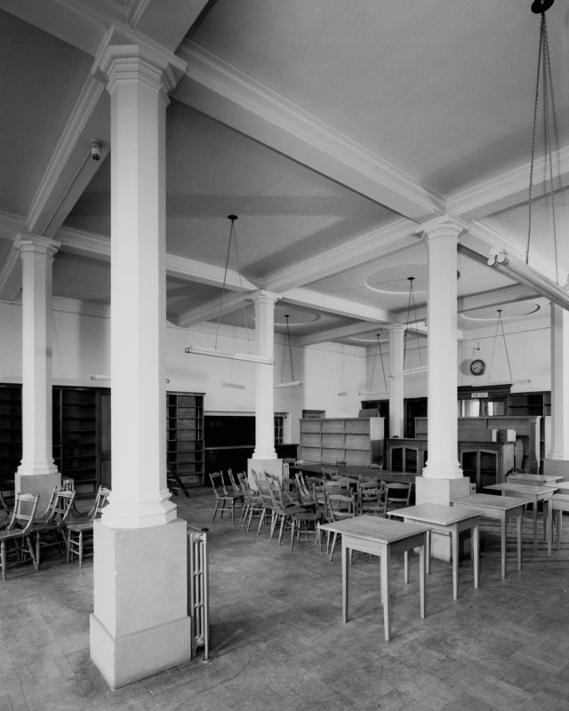 Interior - view of Reading Room from south west