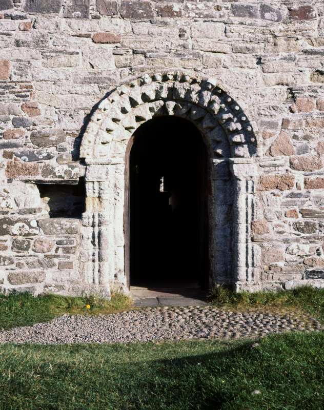 View of doorway to St Oran's Chapel.