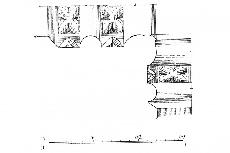 Iona, Iona Abbey. Plan showing arches of cloister arcade.