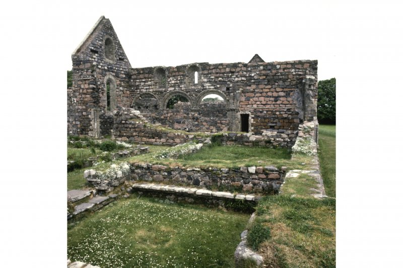 Iona, Iona Nunnery. General view from SSE