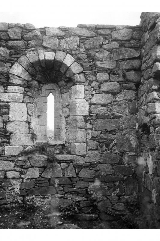 Iona, Iona Abbey. View of North window of Michael chapel prior to restoration work.