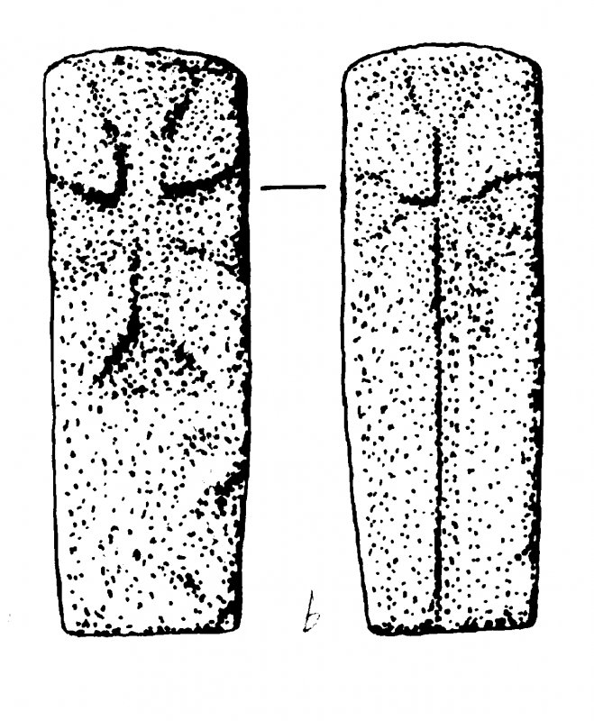 Digital copy of measured drawing of cross-slab, Canna (8).
