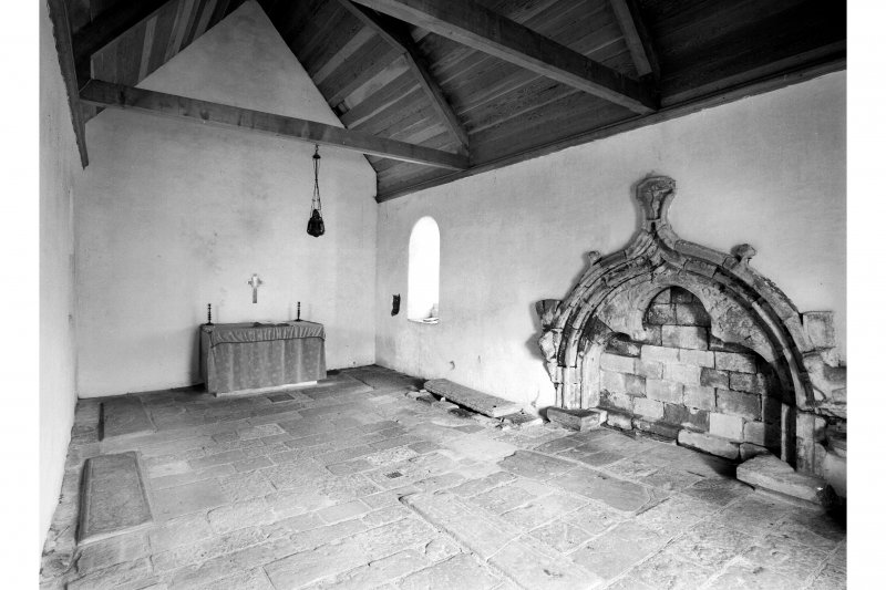 Iona, St Oran's Chapel, interior.  In general view.