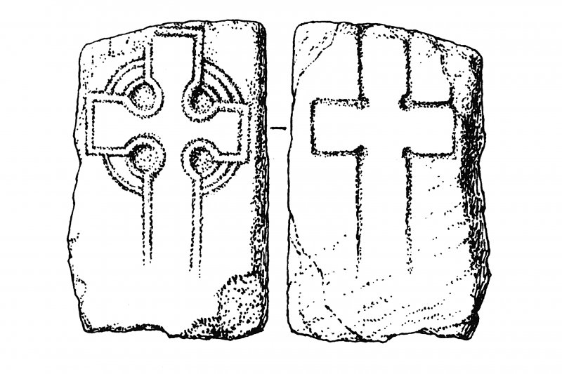 Iona, general. Plan showing outlined, incised, ringed crosses