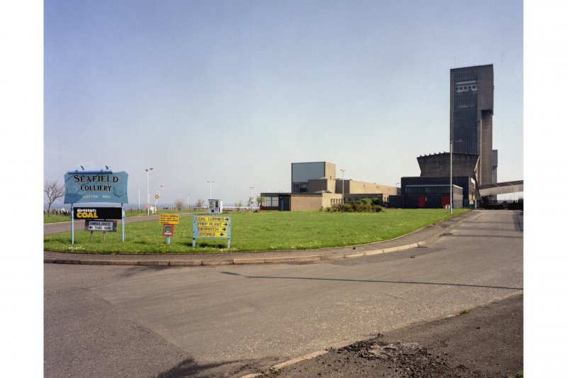 General view from the North West of colliery from the main gates, Seafield Colliery