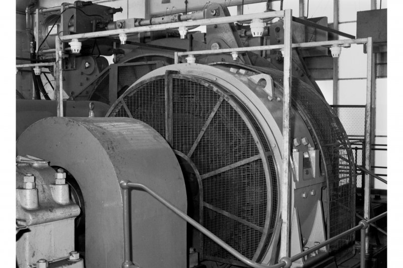 Detail of one of two 1350hp 700v DC electric motors for No.1 winder, Seafield Colliery