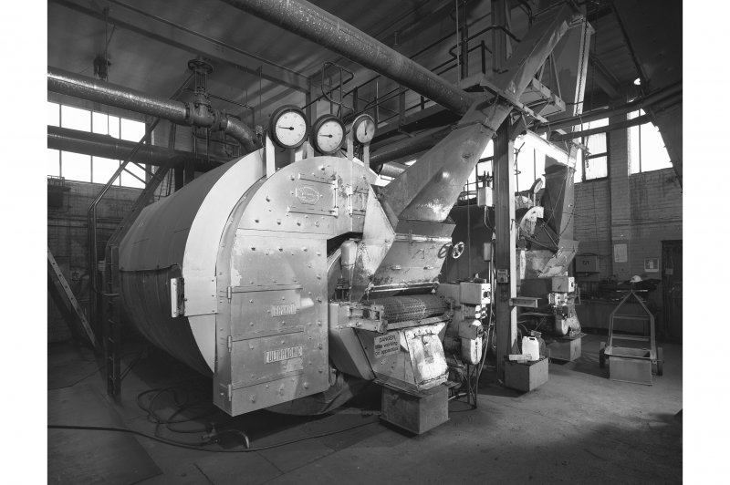 Interior. View of coal-fired boilers.