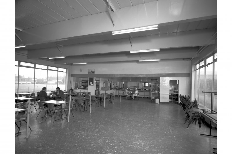 Interior. General view of canteen from E.