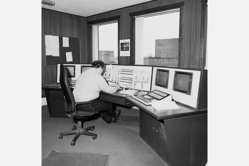 Interior. View of mine control room.