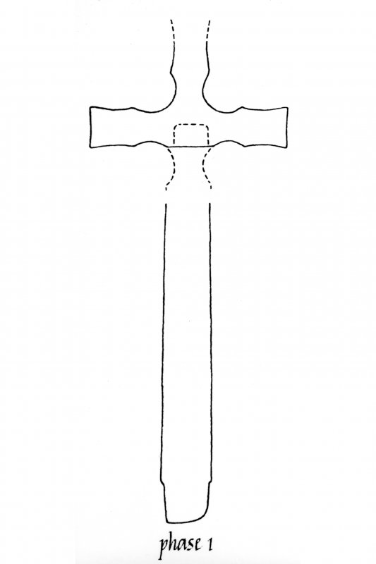 St John's Cross, Iona. Suggested original structure and its development.