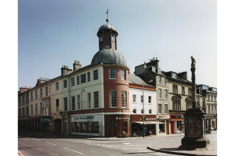 View from north west of Market Cross and Town Hall