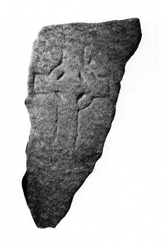 Iona, Iona Abbey Museum.  View of cross incised slab L7.