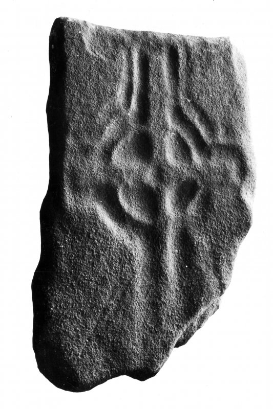 Iona, Iona Abbey Museum.  View of Early Christian cross-marked stone L134.